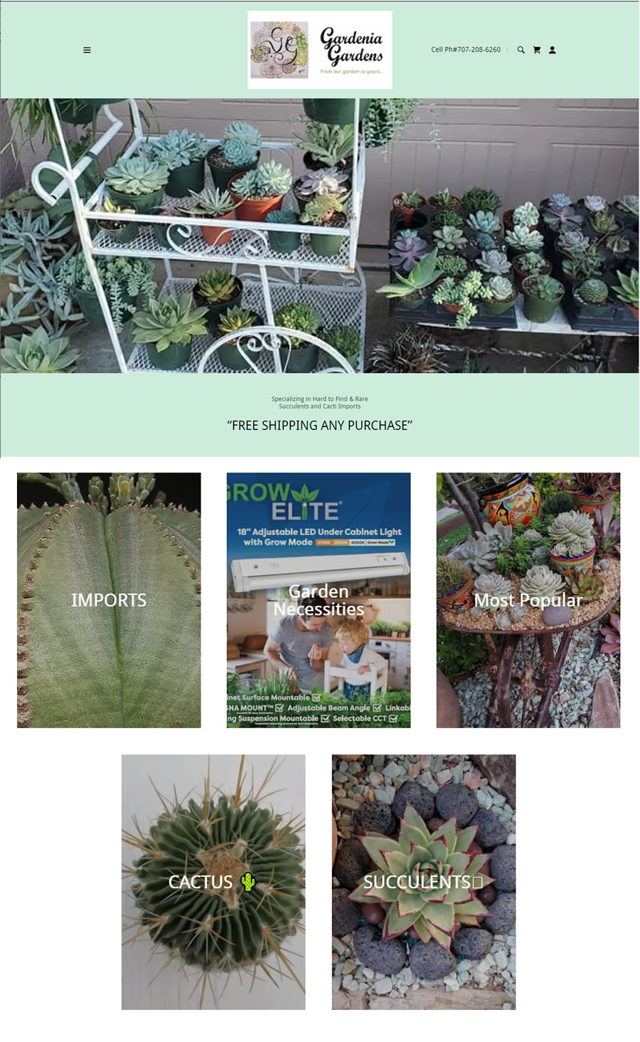 Gardenia Gardens - Rare Succulents and Cacti