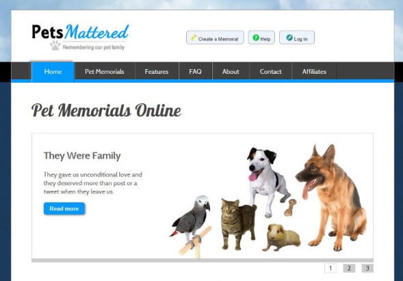 PetsMattered - Pet Online Memorials